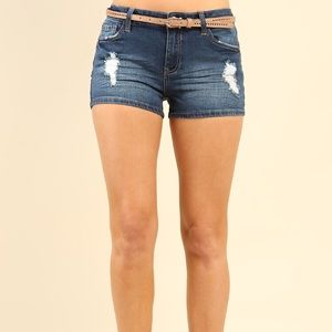 Papaya Denim Shorts